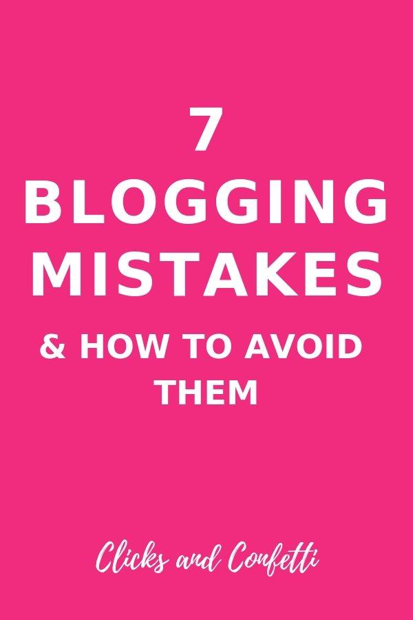 7 blogging mistakes and how to avoid them