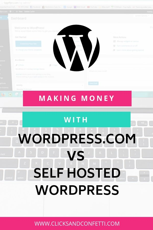 Making Money With Wordpress.com Vs Self Hosted Wordpress