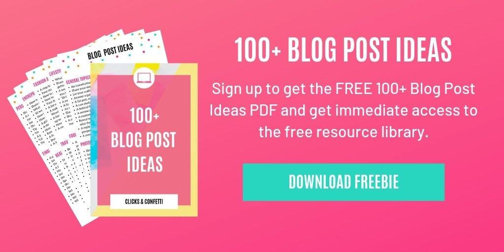 100 blog post ideas