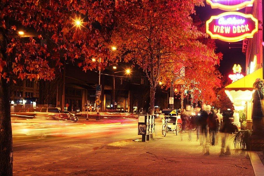 Autumn evening in Seattle
