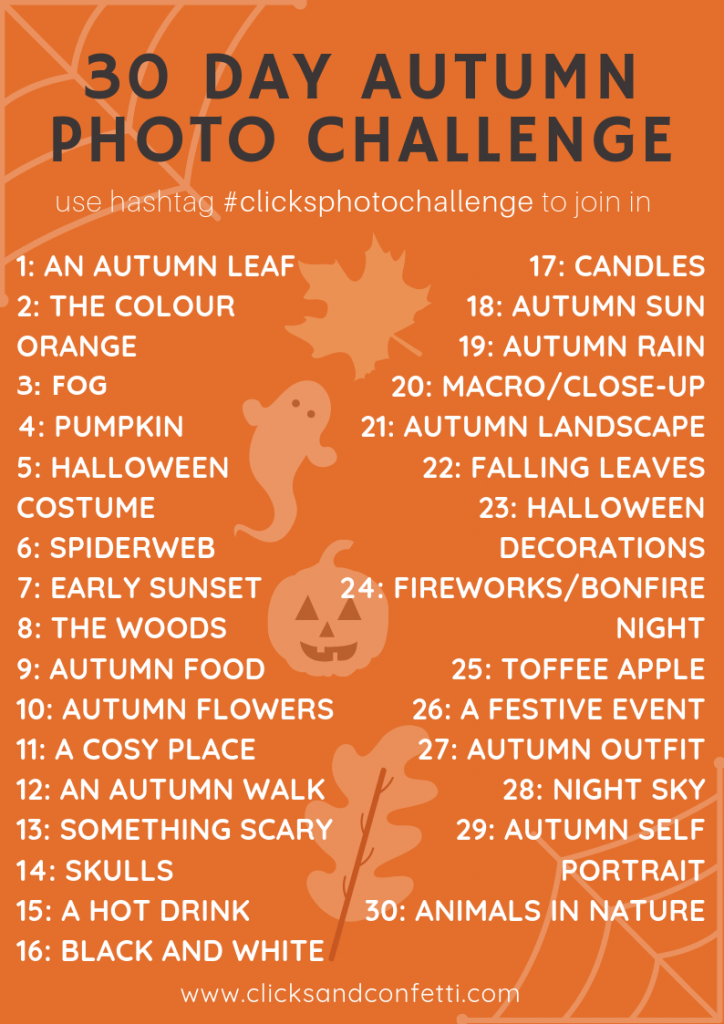 30 Day Autumn Photography Challenge