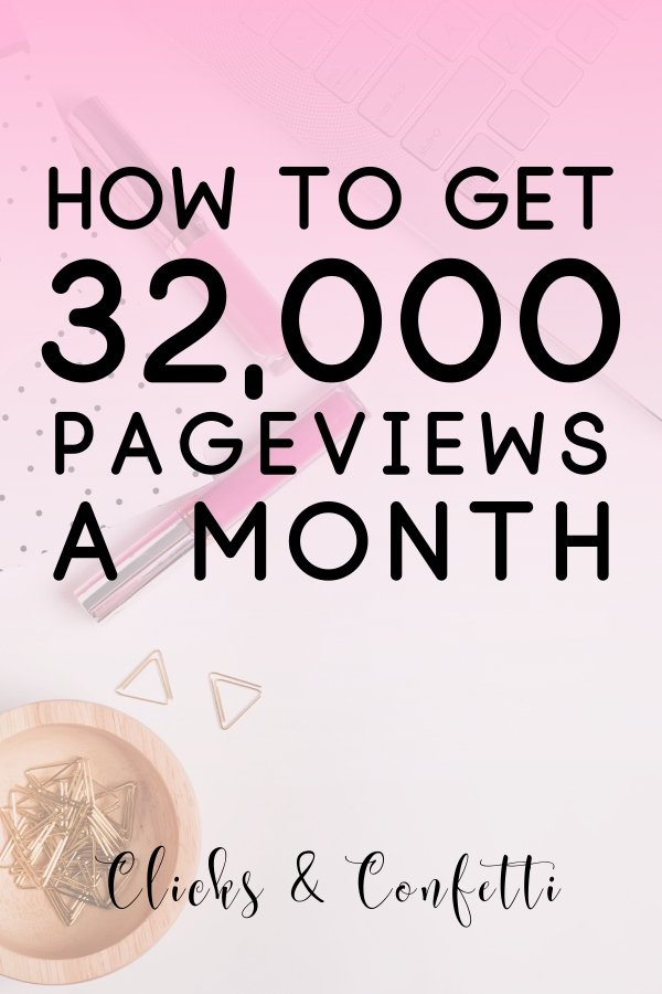 How To Get 32000 Pageviews Per Month